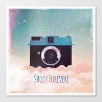 Shoot Forever Canvas Print