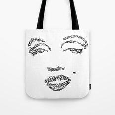 Marilyn Monroe WordsPortrait Tote Bag