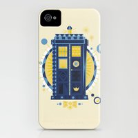iPhone 4s & iPhone 4 Cases featuring Timey Wimey by The Art of Danny Haas