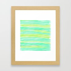Summer Stripes Framed Art Print
