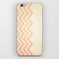 Orange Textured Chevron iPhone & iPod Skin