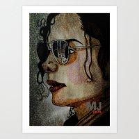 MJ In Profile Art Print