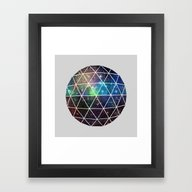 Framed Art Print featuring Space Geodesic by Terry Fan