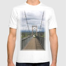 Across the Bridge and Beyond Mens Fitted Tee SMALL White