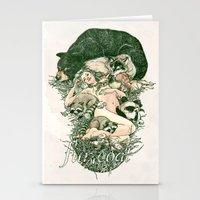Fur Coat Stationery Cards