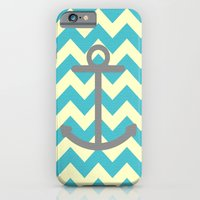 iPhone & iPod Case featuring Chevron Anchor by Mercedes Lopez