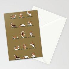Beagle Yoga Stationery Cards