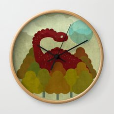 RED DINO Wall Clock