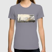 Under Attack  Womens Fitted Tee Slate SMALL