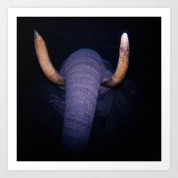 Elephant in the Dark Art Print