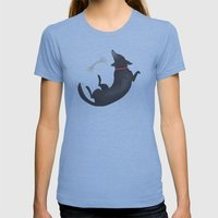 Happy Dog Womens Fitted Tee Athletic Blue SMALL