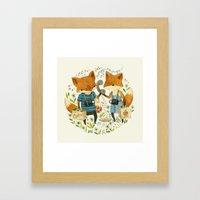 Fox Friends Framed Art Print