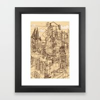 San Francisco! (Dusty) Framed Art Print