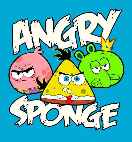 Angry Spongebird - Angry Birds vs SpongeBob Art Print