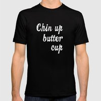 Chin Up Butter Cup Mens Fitted Tee Black SMALL