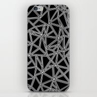 Abstract New White On Bl… iPhone & iPod Skin