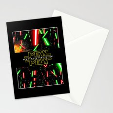 Pew Pew poster Stationery Cards