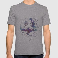 Star . Wars Death Star Mens Fitted Tee Athletic Grey SMALL
