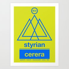 styrian cerera single hop Art Print
