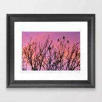 Tree Birds. Framed Art Print