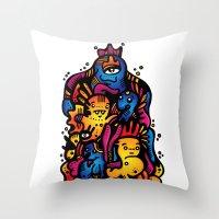 Monsterdelia Throw Pillow