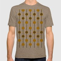 70ies Gold Mens Fitted Tee Tri-Coffee SMALL