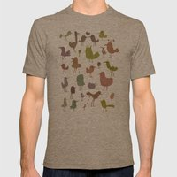 Birdies Mens Fitted Tee Tri-Coffee SMALL