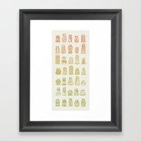 Salt & Pepper (Color) Framed Art Print
