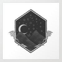 Dark Hills Art Print
