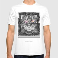Ailuromaniac Mens Fitted Tee White SMALL