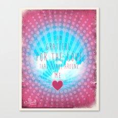 Valentine Affirmation Canvas Print