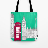Capital Icons // London Red Telephone Box Tote Bag