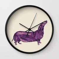 Dachshund / Wiener Dog (Dog Friends, II). Wall Clock