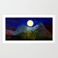 Gaia and Luna Art Print