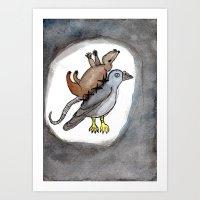 Pigeon Rat Art Print