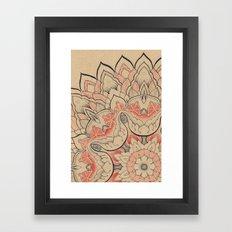 Floral Textile Framed Art Print