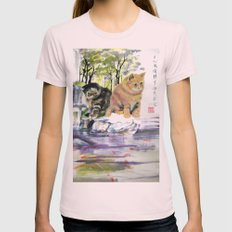 lake of desires Womens Fitted Tee Light Pink SMALL