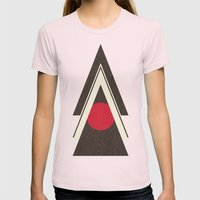 Tribal New World  Womens Fitted Tee Light Pink SMALL