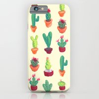 iPhone & iPod Case featuring Cacti Pattern by Julia Emiliani