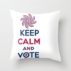 Keep Calm and Vote Throw Pillow
