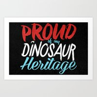 Dinosaur Heritage Art Print