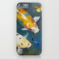 Koi Fish And Butterflies iPhone 6 Slim Case