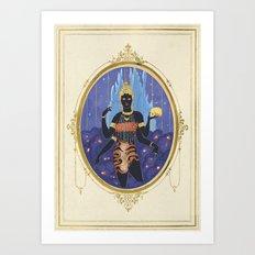 Ratri, the indian goddess  Art Print