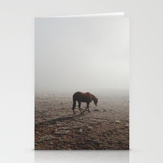Fogged Horse Stationery Card