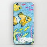 Crayon Fish #3 iPhone & iPod Skin