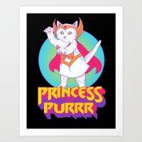 Princess Of Purrr Art Print