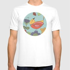 I like this place White SMALL Mens Fitted Tee