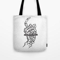 Bone Hand Tote Bag