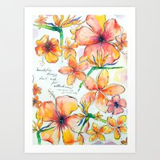 Beautiful tropical things Art Print