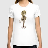 Hipster Monkey Womens Fitted Tee White SMALL